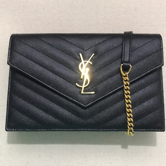 7e7fecb602fd8 Ysl black envelope chain wallet. M 5ba84211c9bf5076ddb56f96. Other Bags you  may like. Pink Yves Saint Laurent ...